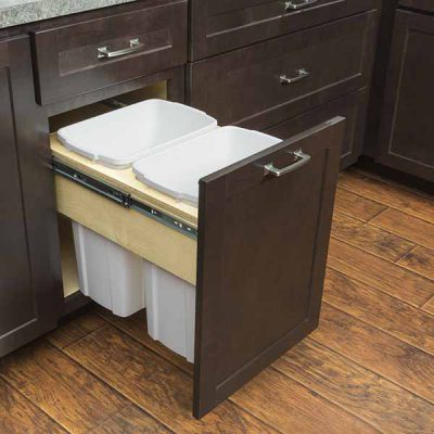 Wastebasket Cabinet 2 Containers